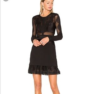 Three floor Bonjour Dress in Black size small